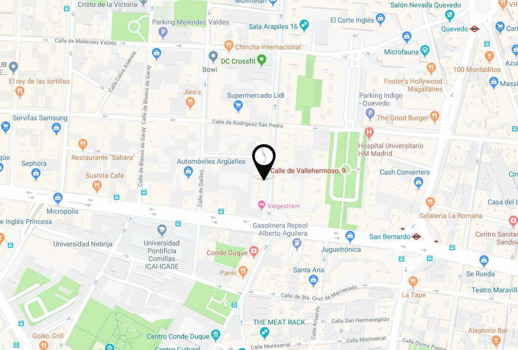 mapa localizacion medicina estética chamberí